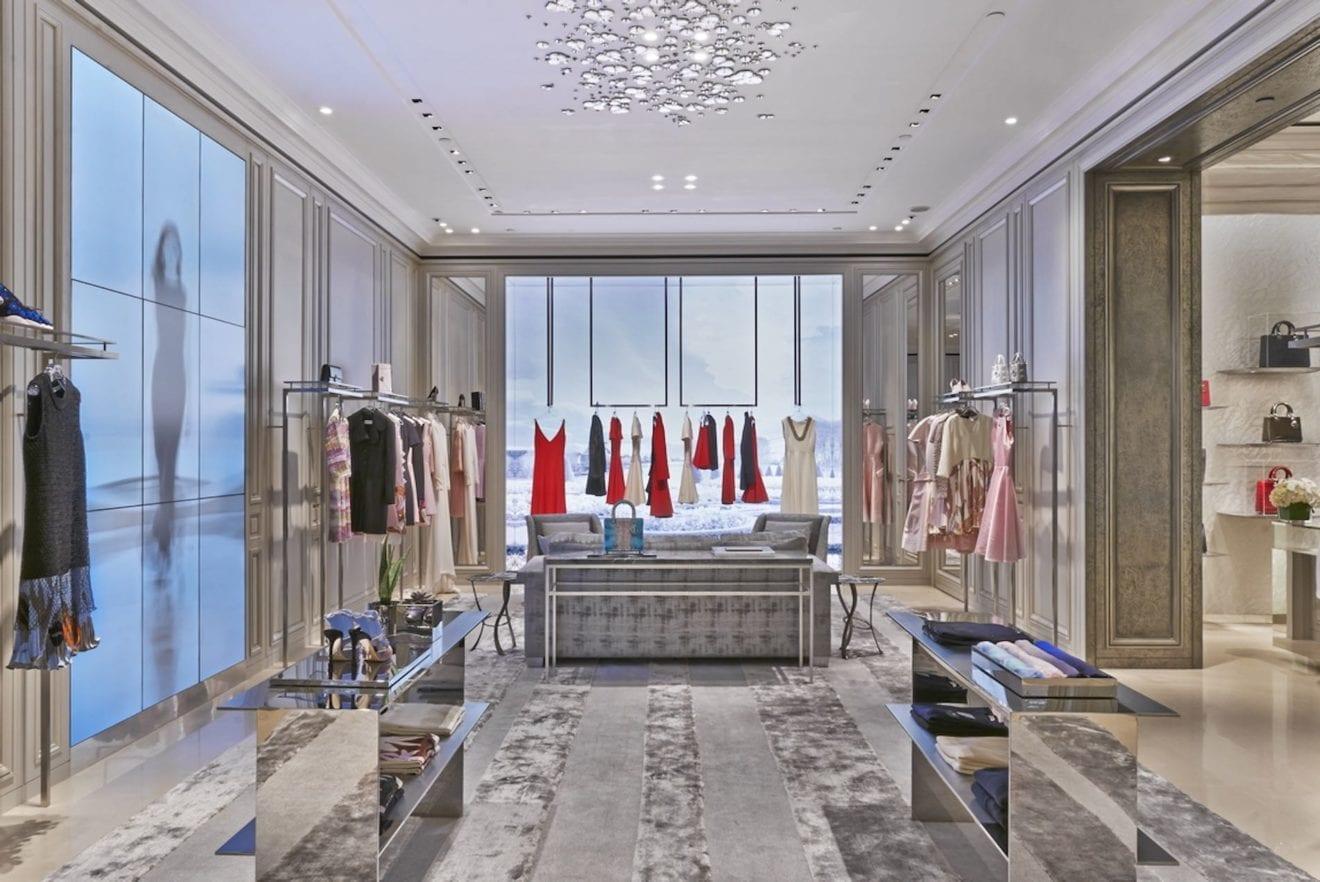 Dior opens largest flagship store in singapore 1st ladies for Local interior decorators